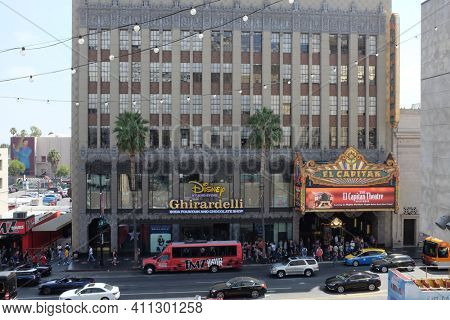 HOLLYWOOD - SEPT 2, 2018: The El Capitan Theatre is a fully restored movie palace on Hollywood Boulevard.