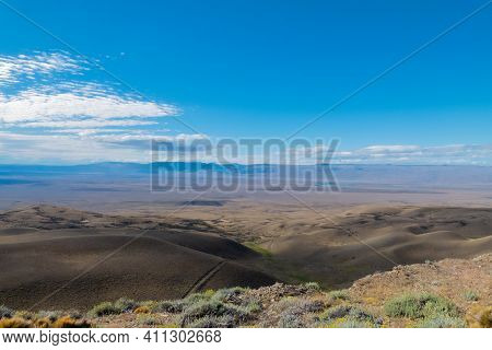Landscape From The Lookout Tec. Julio Heredia El Monito,located On The Road To Calafate, Argentina S