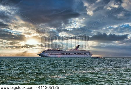 Miami, Florida - November 18, 2009: The Travel And Cruise Industry Was All But Crippled By The Covid