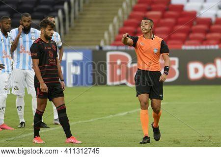 Rio, Brazil - March 06, 2021: Yuri Elino Da Cruz Referee In Match Between Macae V Flamengo By Carioc