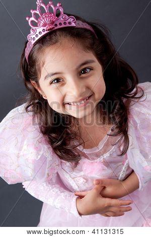 Beautifull Indian Girl In Princess Outfit