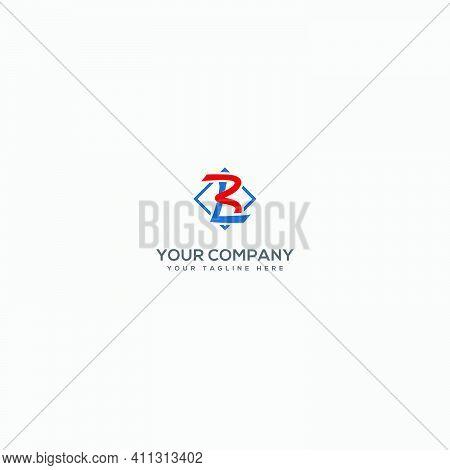 Monogram Logo With Letter B And L Logo, Modern Logo Geometric