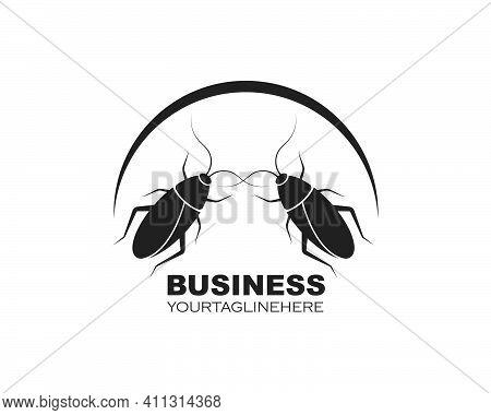Cockroaches Vector Icon Illustration Design