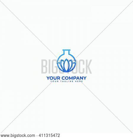 Lotus Science, Lotus Experiment, Lotus And Chemical Logo