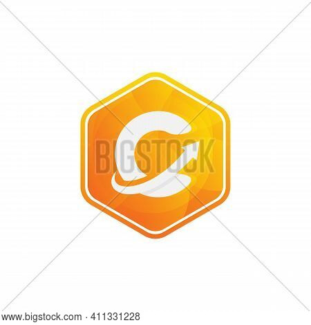 Abstract Letter C Logotype And Arrows. Suitable For Trademarks, Company Logos And More. Vector Illus