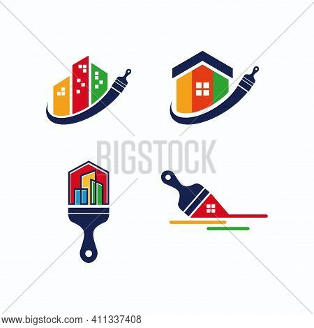 Painting Logo. Painting Service And Home Paint Logo Vector