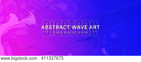 Abstract Fluid. Blue Pink Vector Motion. Futuristic Flow Banner. Alcohol Inks Paint Wallpaper. Moder