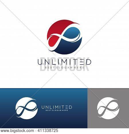 Unlimited Logo Design. Infinity Loop Logo Design Vector