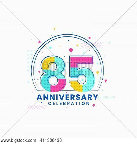 85 Anniversary Celebration, Modern 85th Anniversary Design Vector Illustrator