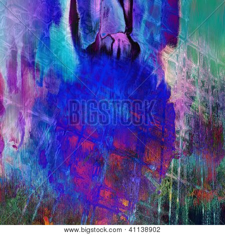 art abstract grunge violet textured background