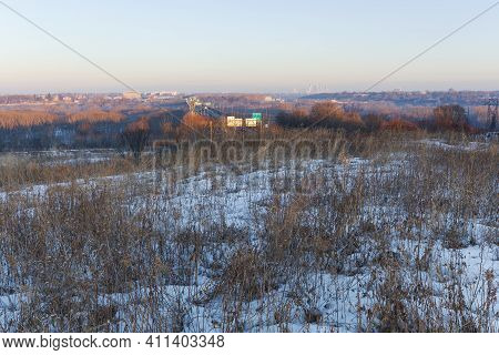 Pilot Knob Preservation Site At Dawn Overlooking River Valley From Mendota Heights Minnesota