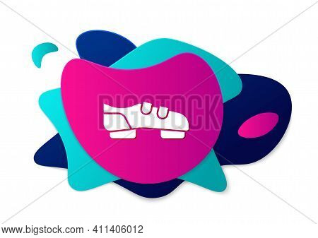Color Triathlon Cycling Shoes Icon Isolated On White Background. Sport Shoes, Bicycle Shoes. Abstrac