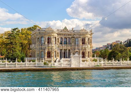 Kucuksu Pavilion Seen From The Bosphorus In Istanbul, Turkey. Also Known As Littlewater Pavilion A.k