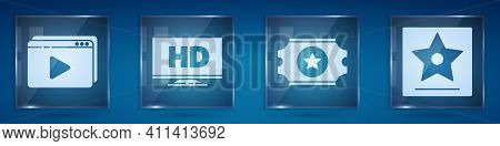 Set Online Play Video, Smart Display With Hd Video, Cinema Ticket And Hollywood Walk Of Fame Star. S
