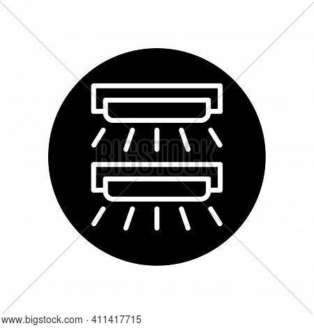 Uva Lamp Black Glyph Icon. Isolated Vector Element.