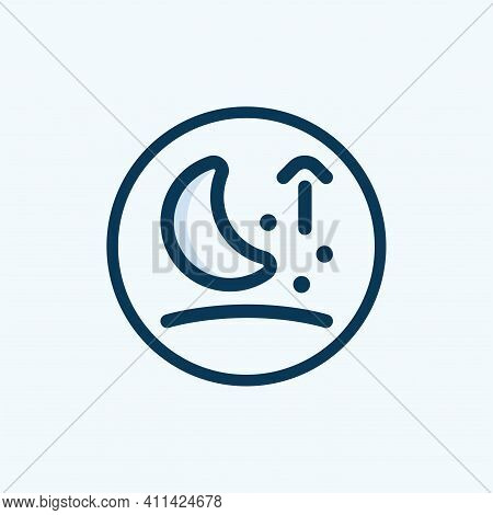 Half Moon Icon Isolated On White Background From Weather Collection. Half Moon Icon Thin Line Outlin