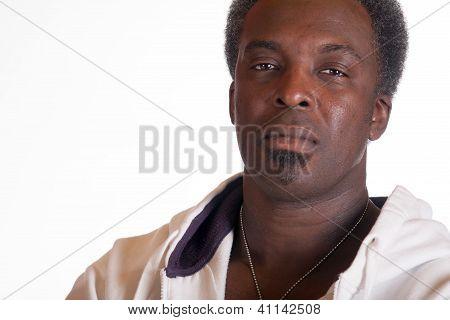Portrait Of Black American In Sweat Suit