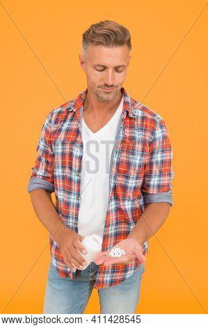 Medicine Concept. Anabolic And Steroids. Food Additives For Male Health. Bio Vitamin Complex. Diseas