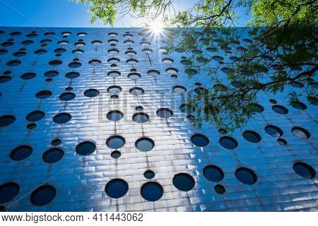 New York City, Usa, May 2019, Close Up Of The Facade Of The Dream Downtown Hotel In The Chelsea Neig