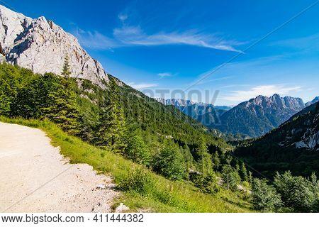 Panoramatic View Near Vrsic Viewpoint, Vrsic Pass, Slovenia, Triglav National Park
