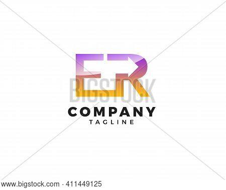 Letter Er Arrow Logo Design, Letter Er Arrow Logo