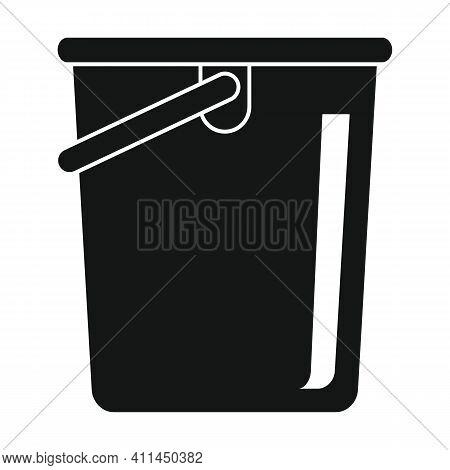 Fishing Bucket Black Simple Icon. Vector Fishing Bucket Black Simple Icon Black Simple Icon   Isolat