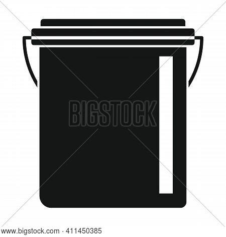 Watering Bucket Black Simple Icon. Vector Watering Bucket Black Simple Icon   Isolated On White Back