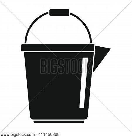 Kids Bucket Black Simple Icon. Vector Kids Bucket Black Simple Icon   Isolated On White Background F