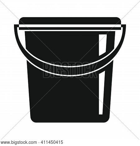 Sand Bucket Black Simple Icon. Vector Sand Bucket Black Simple Icon   Isolated On White Background F