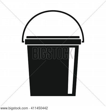 Small Bucket Black Simple Icon. Vector Small Bucket Black Simple Icon Isolated On White Background F