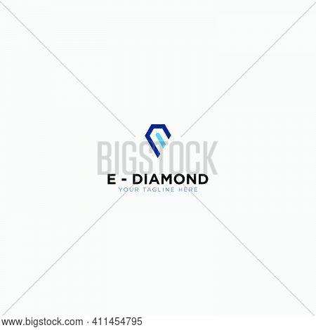 E Commerce Symbol Diamond Logo Design Letter E