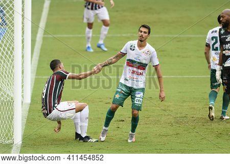 Rio, Brazil - March 07, 2021: Samuel Player In Match Between Fluminense V Portuguesa By Carioca Cham