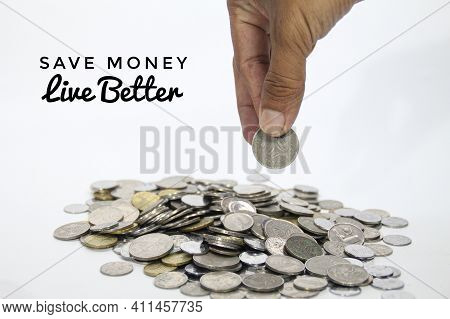 The Concept Of Saving Money For A Better Life. Selective Focus