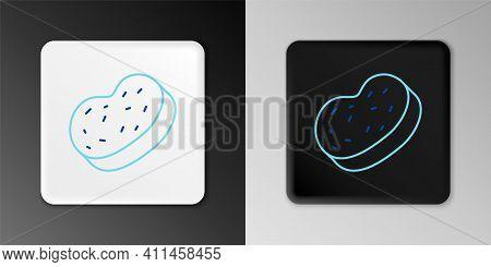 Line Bath Sponge Icon Isolated On Grey Background. Sauna Sponge. Colorful Outline Concept. Vector