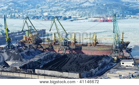 The Port Terminal For Coal Loading