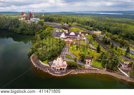 The Ganga Talao Temple In Grand Bassin, Savanne, Mauritius.