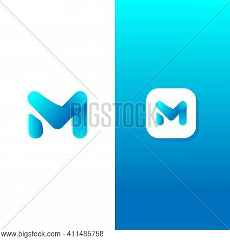 Abstract Letter Logotype M. Suitable For Trademarks, Company Logos, And Others. Vector Illustration