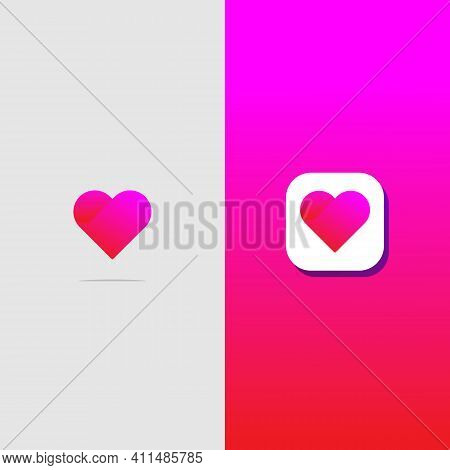 Abstract Heart Logotype . Suitable For Trademarks, Company Logos, And Others. Vector Illustration