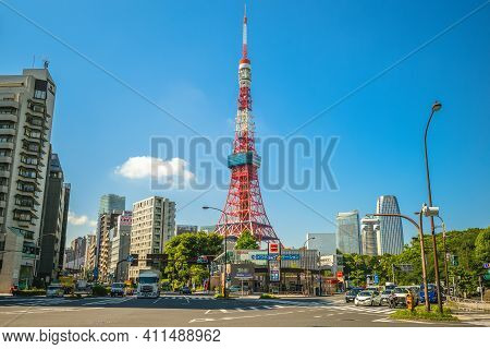 June 13, 2019: Tokyo Tower, A Communications And Observation Tower In Shiba Koen District Of Minato,