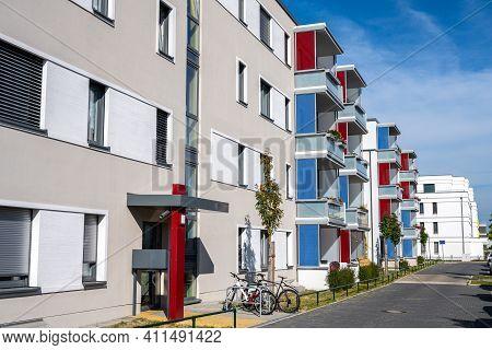 New Generic Apartment Buildings Seen In Berlin, Germany