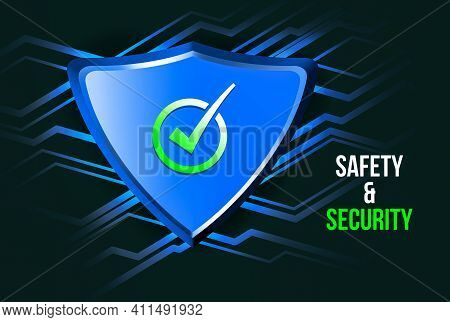 Illustration Of Safety And Protected Using Antivirus