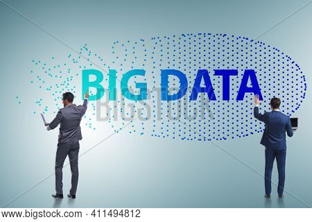 Concept of big data and data mining with businessman