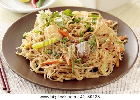Noodles On The Plate