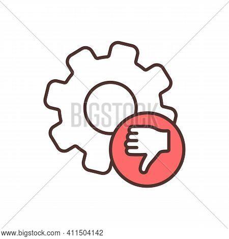Lacking Key Skills Rgb Color Icon. Graduates Problem. Skills Gap. Lacking Core Knowledge. Difficulti