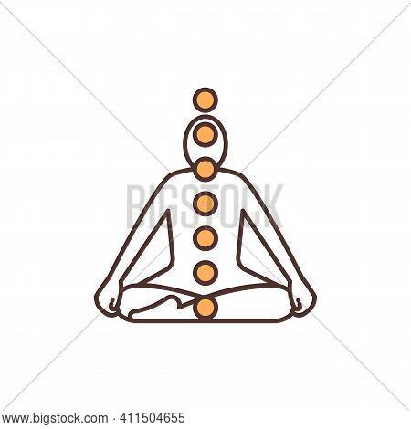 In-body Chakras Rgb Color Icon. Spiritual Techniques. No Specific Colors. Connection To Spirit, Univ