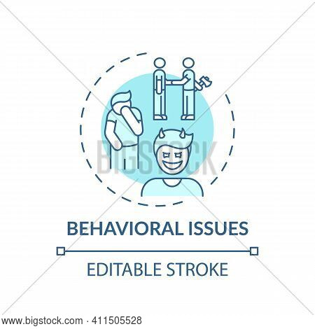 Behavioral Issues Concept Icon. Online Family Therapy Types. Behavioral And Conduct Diseases Basics