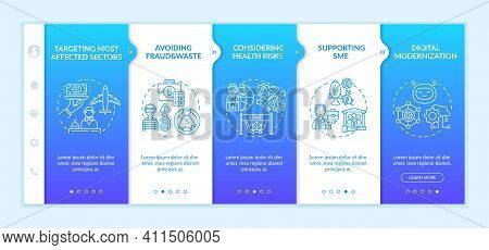 Financial Support Onboarding Vector Template. Helping To Meet Evolving Needs Of People. Development