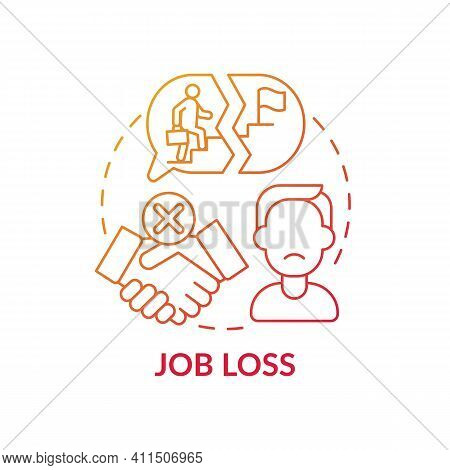 Job Loss Concept Icon. Increasing Unemployment Rate Idea Thin Line Illustration. Impact From Coronav
