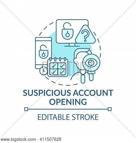 Account Opening Concept Icon.theft And Scammers Idea Thin Line Illustration. Unprotected Transaction