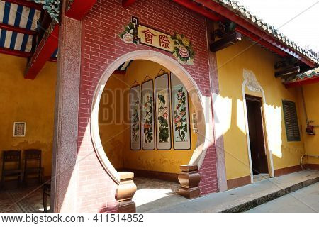 Hoi An, Vietnam, March 8, 2021: One Of The Corners Of A Taoist Temple In Hoi An, Vietnam
